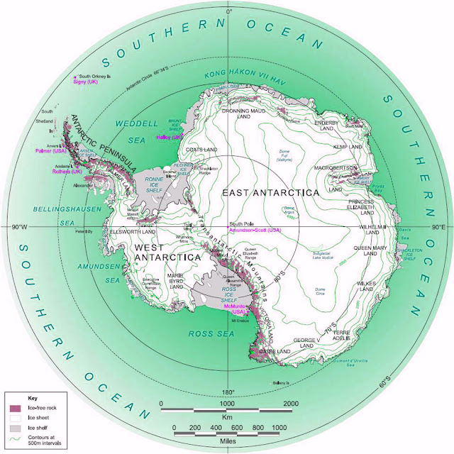 Gambar Peta Antartika bulat
