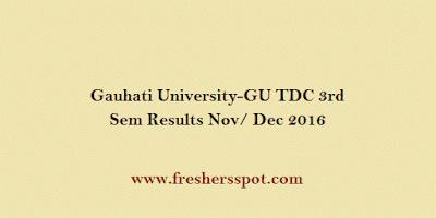 Gauhati University TDC 3rd Sem Results