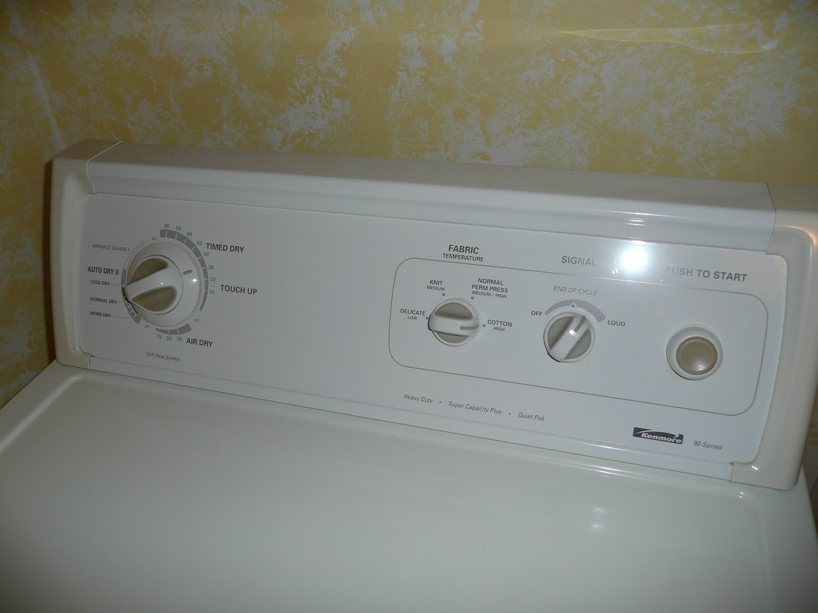 kenmore 90 series, model 110 clothes dryer runs but has stopped heating and  drying clothes