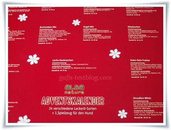 Rückseite - alsa Hunde-Adventskalender