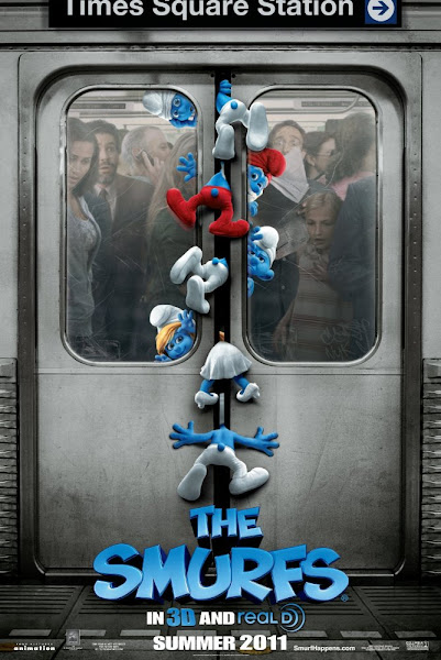 Poster of The Smurfs 2011 720p Hindi BRRip Dual Audio Full Movie Download