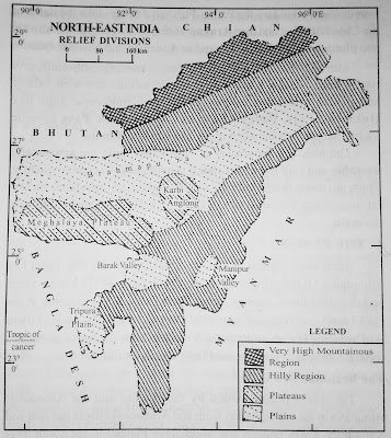Physiography of Northeast India | North East India Geography