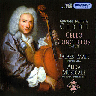 Giovanni Battista Cirri: Six Cello Concertos