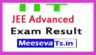 IIT JEE Advanced Exam Result 2017