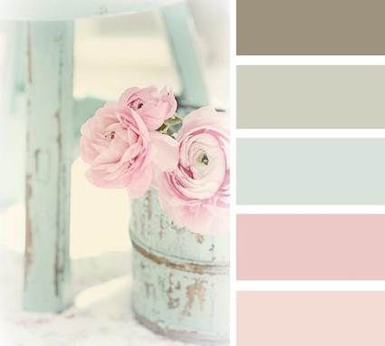 Paleta de color shabby chic