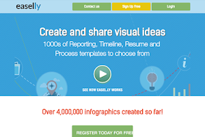 Easel.ly lets you create and share visual ideas online