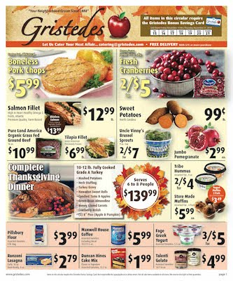 CHECK OUT ROOSEVELT ISLAND GRISTEDES Products, Sales & Specials For November 15 - November 21