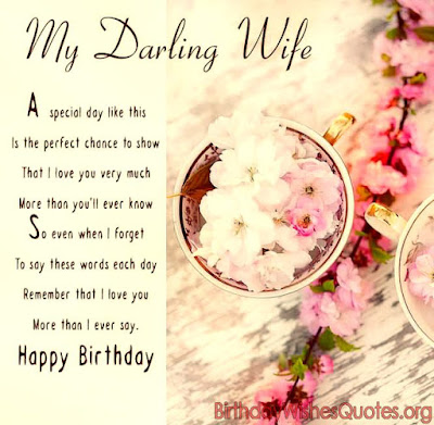 Birthday Greetings For Wife