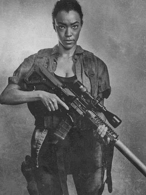 Sonequa Martin Green como Sasha – The Walking Dead _ sexta temporada, Silver Portraits – Photo Credit: Frank Ockenfels 3/AMC