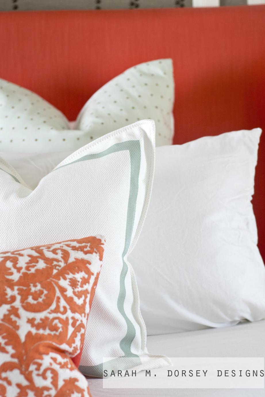 Sarah m dorsey designs master bedroom tour for Euro shams ikea