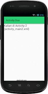 Hasil Aplikasi Actvity 2 Android