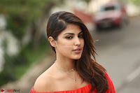Rhea Chakraborty in Red Crop Top and Denim Shorts Spicy Pics ~  Exclusive 352.JPG