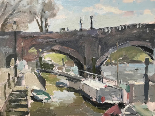 #324 'Spring at Richmond Bridge' 9×12″