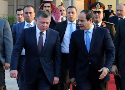 السيسي والعاهل الأردنى