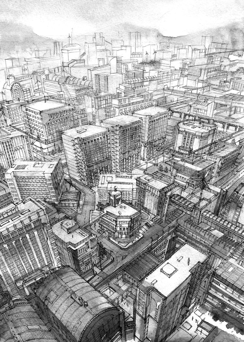17-Kiyohiko-Azuma-Architectural-Urban-Sketches-and-Cityscape-Drawings-www-designstack-co