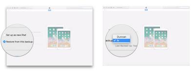 Cara Melakukan Restore Transfer data dari iPad lama ke iPad baru Anda