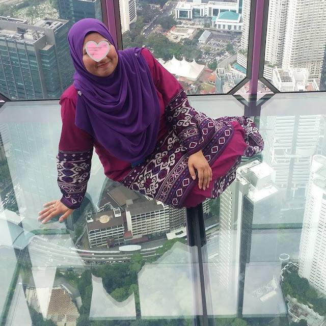 tak fobia tempat tinggi, fobia jambatan gantung, SkyDec Menara KL, kenangan manis naik SkyDec Menara KL