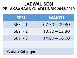 Jadwal Gladi Bersih UNBK 2018/2019