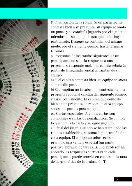 Juego del juego de cartas de la sintaxis: instrucciones 3