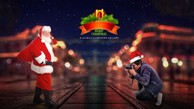 Photoshop Manipulation Tutorial || santa claus waiting for krishna gallery photoshoot