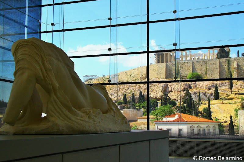 View of Acropolis from Acropolis Museum One Day in Athens
