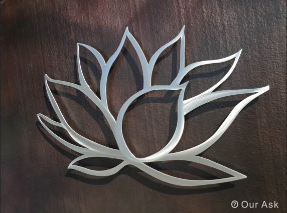 Metal Scrolling Flower Wall Art