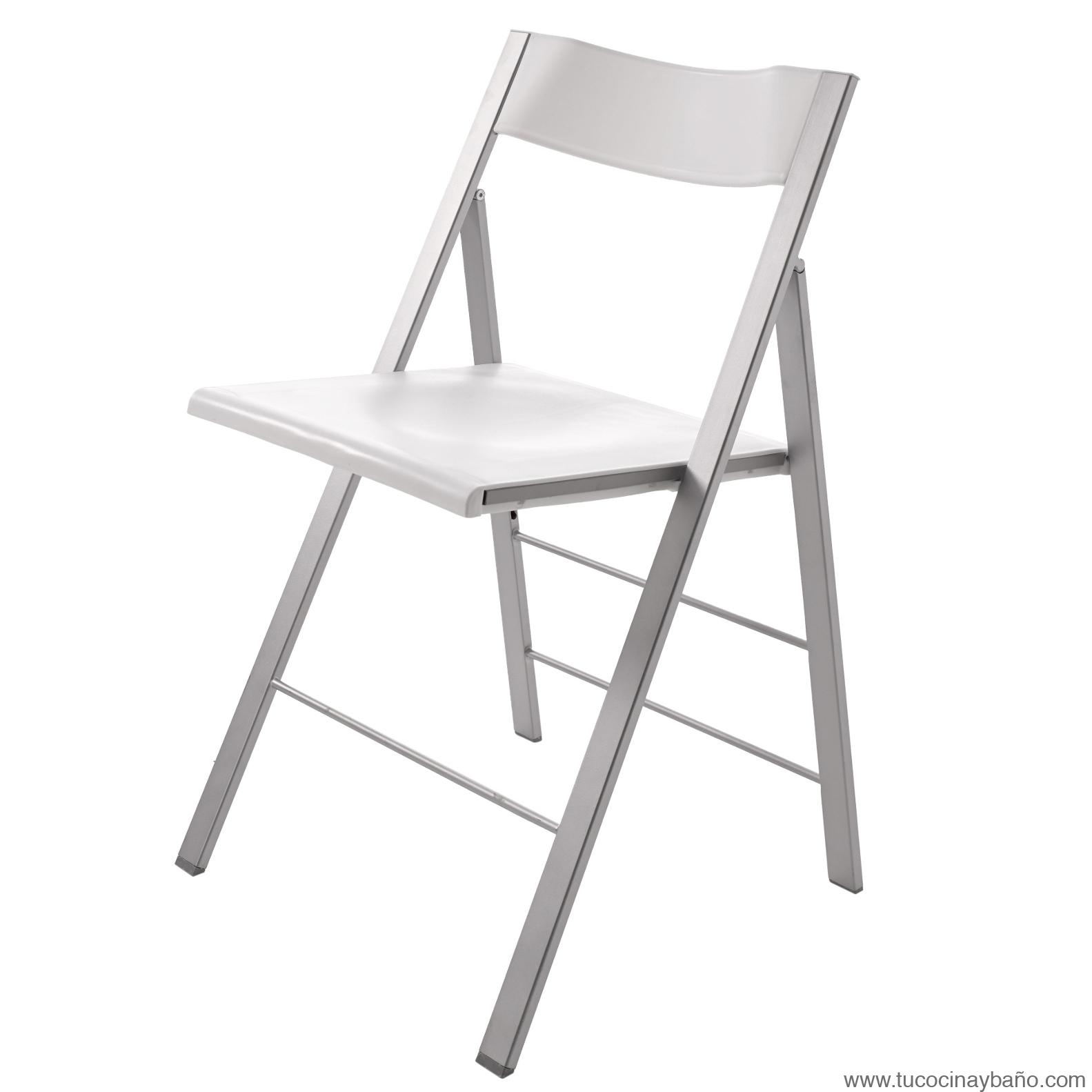 sillas plegables blanca de cocina baratas