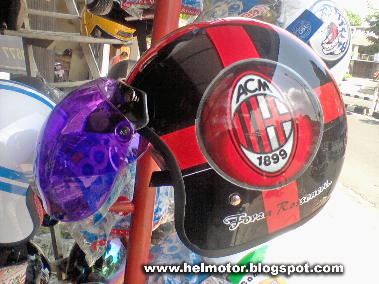 Helm Bogo AC Milan  Helm Vespa