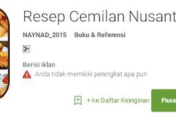 Aplikasi ini Berisi Aneka Resep Camilan