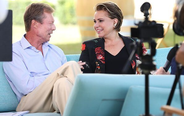 The Duke and Duchess gave an interview to TV5 Monde