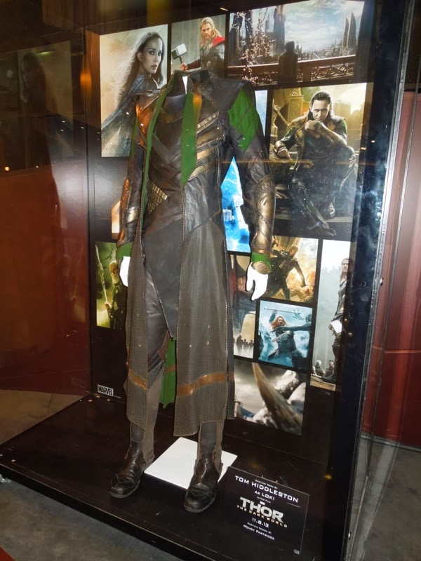 Tom Hiddleston Loki movie costume Thor Dark World