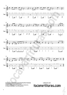 2  Himno de la República Dominicana Tablatura y Partitura del Punteo de Ukelele Sheet Music for Ukele Tablature Tabs Music Score