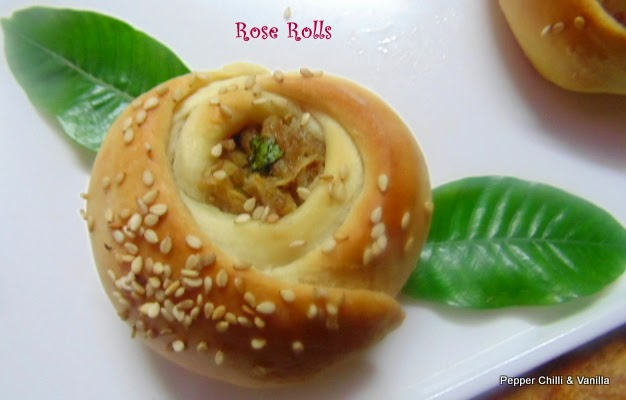 how to make rose rolls