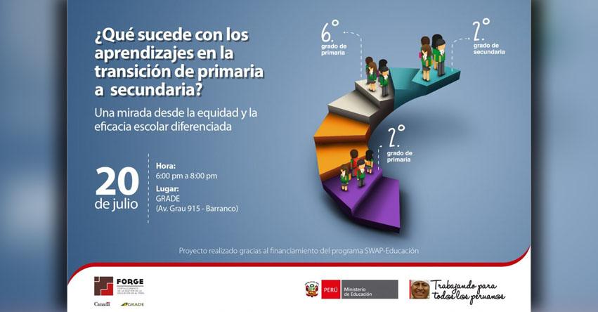 MINEDU presentará estudio que analiza los aprendizajes de los estudiantes en la transición de primaria a secundaria - www.minedu.gob.pe