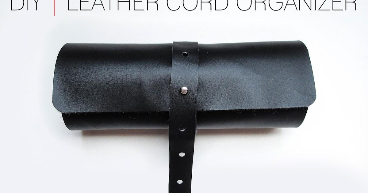 Cafe Craftea: DIY | Leather Cord Organizer