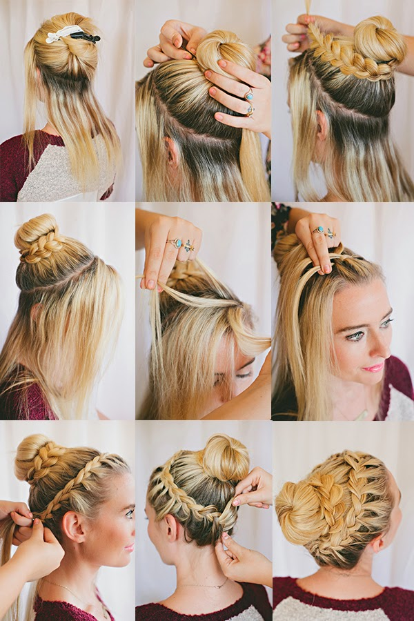 hair plait styles step by step braided bun tutorial the shine project 7730
