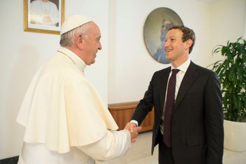 NEWS: Atheist Facebook Founder Mark Zuckerberg Says He'll 'NeverForget' Meeting Pope Francis.
