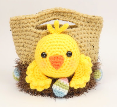 amigurumi crochet Easter Chick & Chicken basket