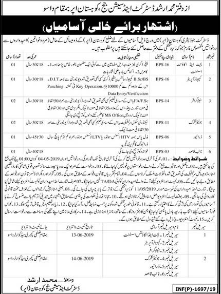 District And Session Judge Kohistan Upper Jobs