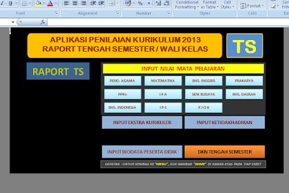 Aplikasi Penilaian Guru K13 dan Aplikasi Pengisian Raport K13 Untuk SMP Terbaru