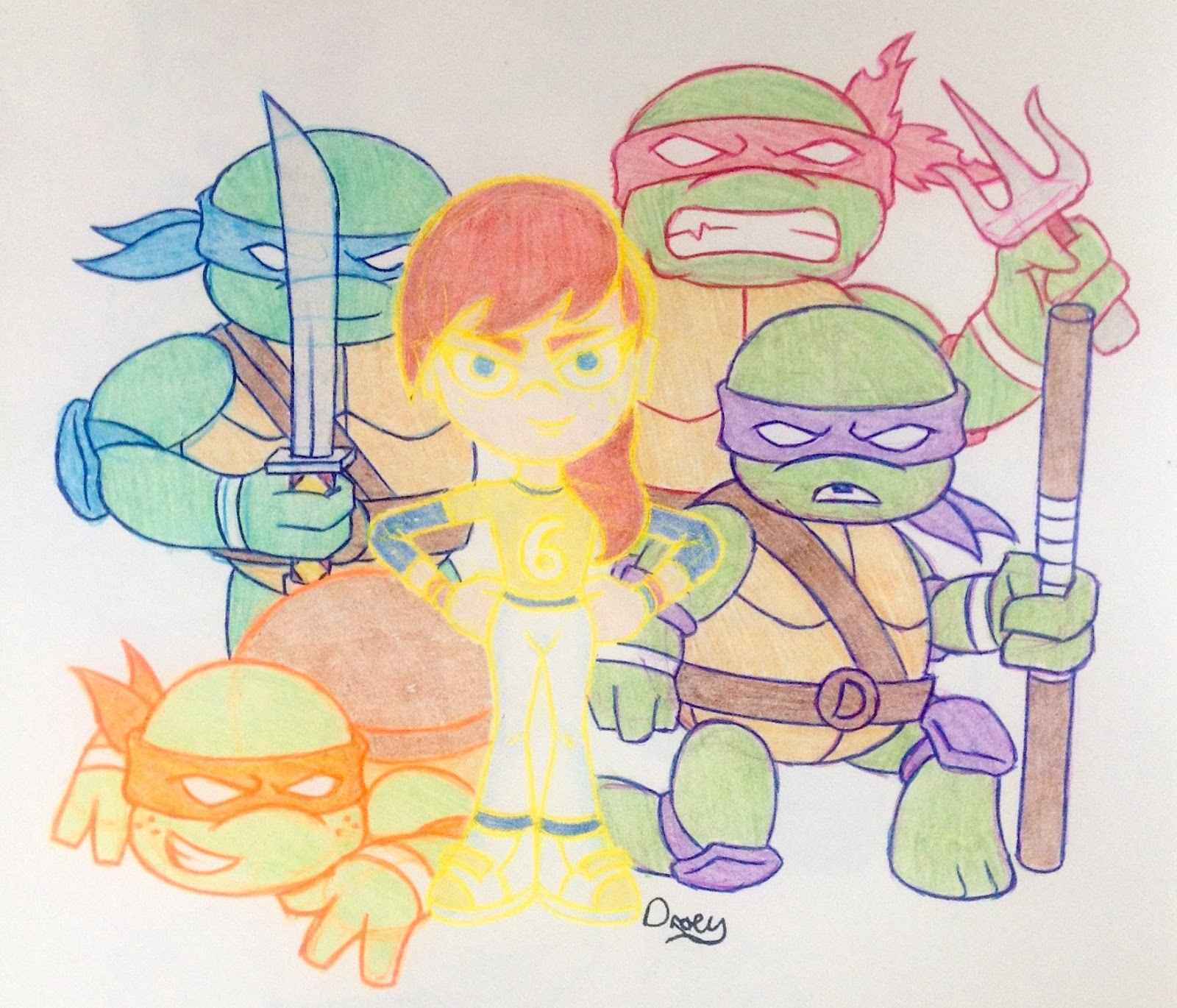 Top Ten Floo Y Wong Artist Tmnt 2012 Donnie And April Fan Art