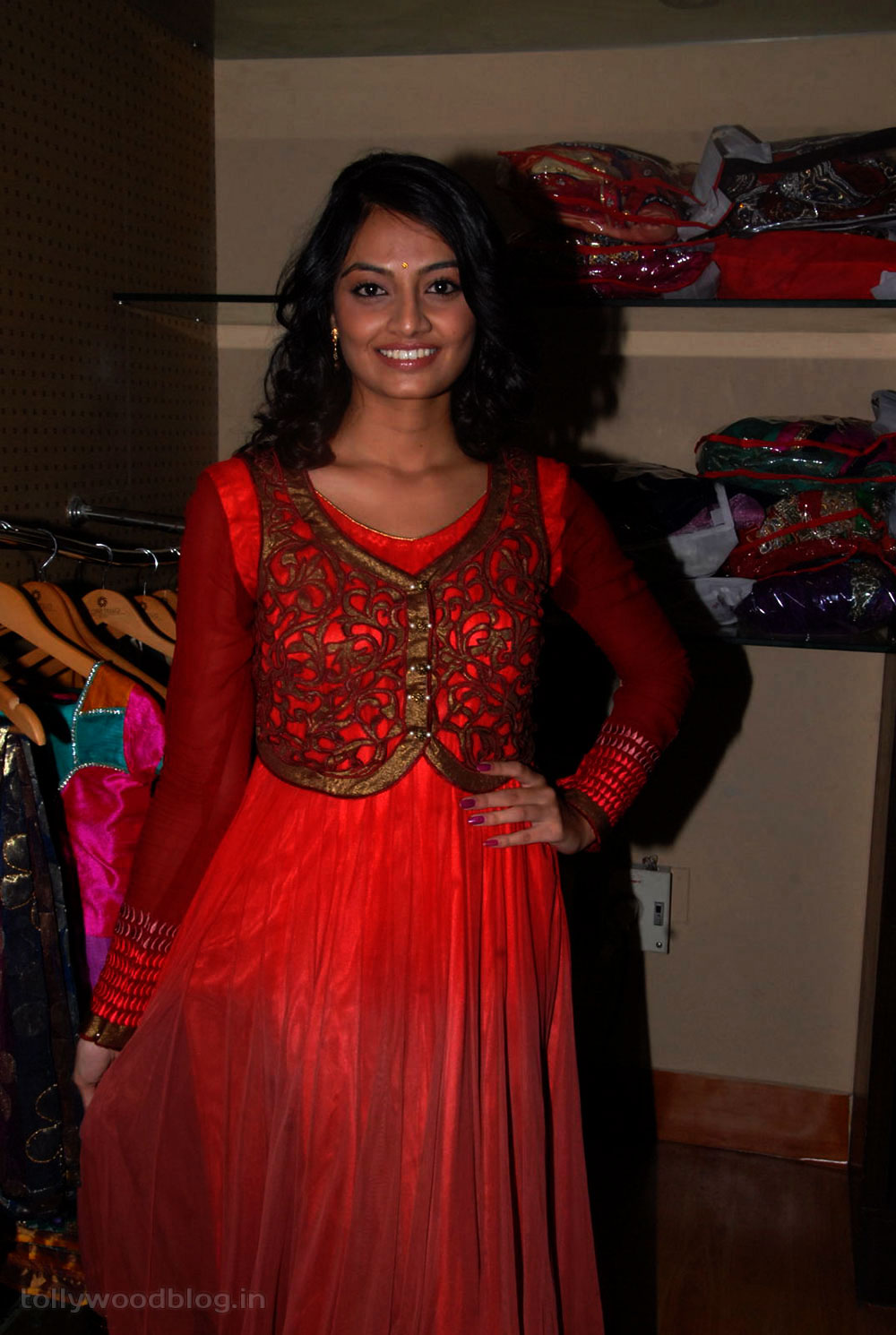 Gorgeous nikitha narayana in hot red dress latest photos galley