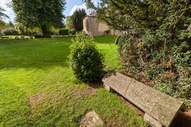 The grave of William Morris in Kelmscott churchyard in the Cotswolds by Martyn Ferry Photography