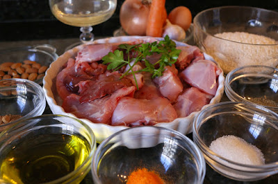 Ingredientes para arroz con conejo