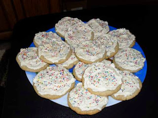 Plate of Christmas Cookies - Frosted and Decorated