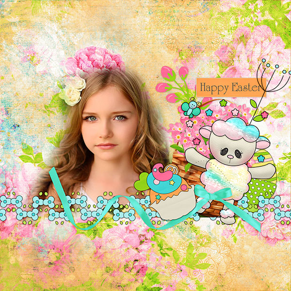 Easter Sunday Digital Scrapbooking Kit + Brag Book Page Freebie