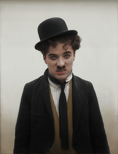 British Paintings: Silent film actor Charlie Chaplin c. 1910s