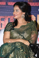 Neetu Chandra in Transparent Saree Jari work Blopuse choli At Vaigai Express Trailer Launch 1.jpg