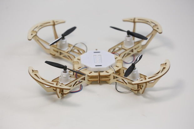 Eco-friendly wooden DIY drones
