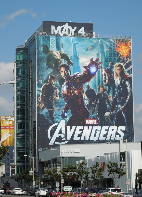 The Avengers film billboard